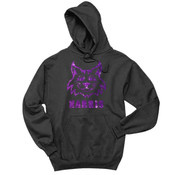 Glitter Wildcat - 996Y Jerzees Youth 8oz. NuBlend® 50/50 Pullover Hood