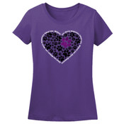 Glitter Heart - L3930R Fruit of Loom Ladies' 5oz. 100% Heavy Cotton HD T-Shirt