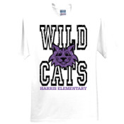 WildCats - 3931-X Fruit of the Loom 5oz. 100% Heavy Cotton HD T-Shirt