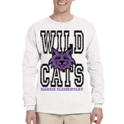 WildCats - 4930-X Fruit of the Loom 5oz. 100% Heavy Cotton HD™ Long-Sleeve T-Shirt